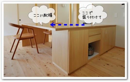 ダイニングキッチンの動線