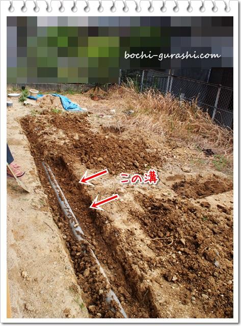 埋められた溝