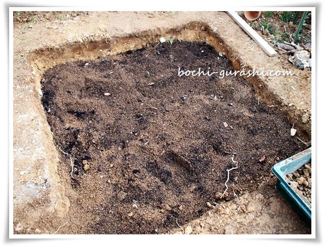 菜園の土づくり