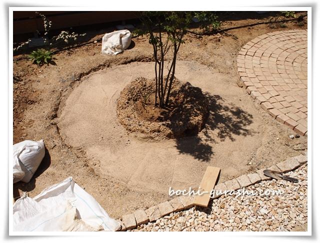 サークル小_砂を敷く