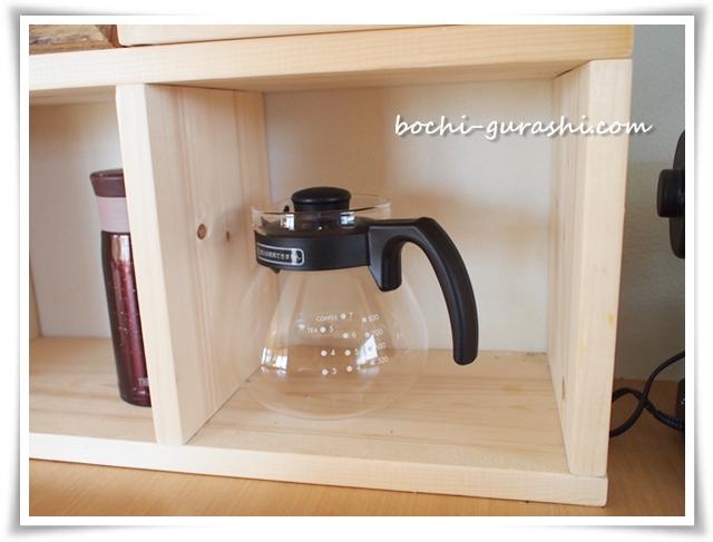 カフェコーナーの棚