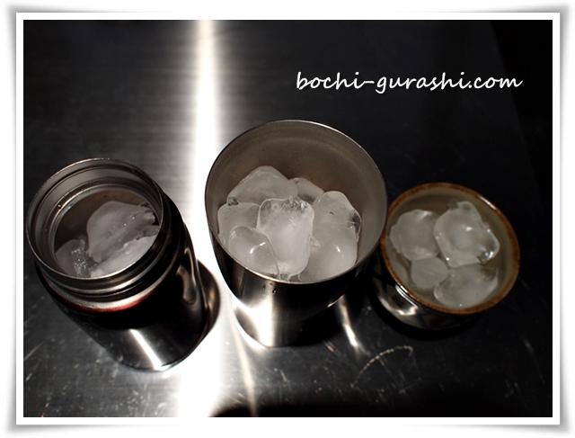 氷の溶け方実験