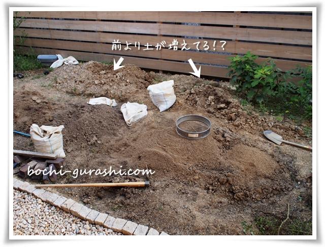 9月芝生スペース作りの再開