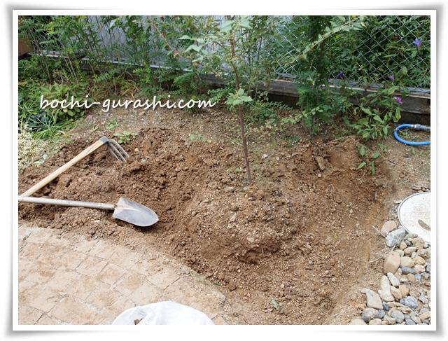 庭土の入れ替え始め