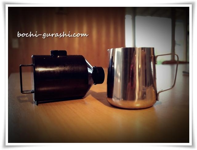 ミルクピッチャーとコーヒー受け