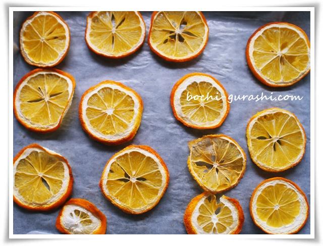 ドライレモンをオーブンでつくる