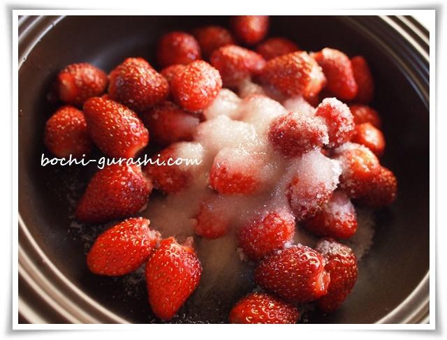 苺ジャムを作る