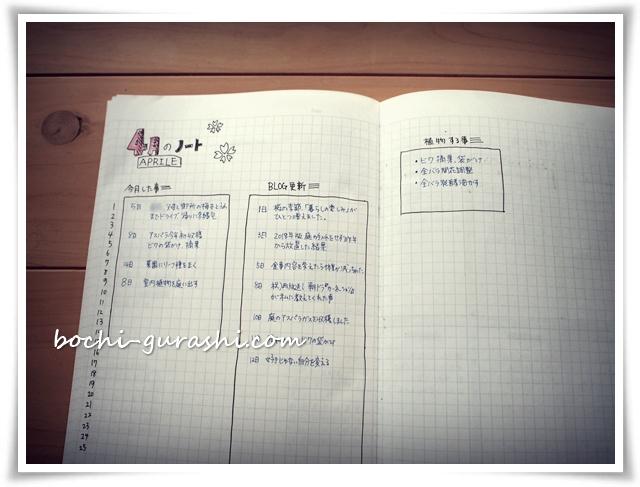 手帳_月のページ